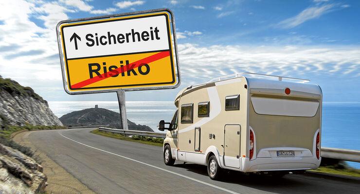Bergstraße mit Reisemobil