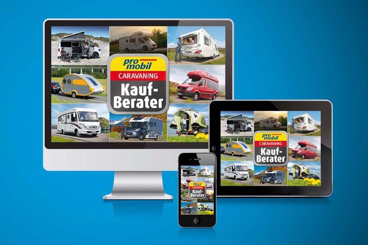 CampingmobilGUIDE App, Katalog-App, Kaufberater