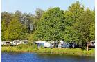 Campingplatz Emsbrücke: nah am Zentrum und direkt am Wasser.