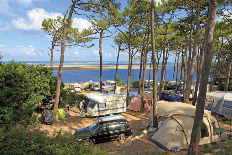 campingplatz in frankreich panorama du pyla caravaning. Black Bedroom Furniture Sets. Home Design Ideas