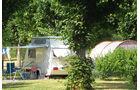 Campingplatz in La Charité-sur-Loire.