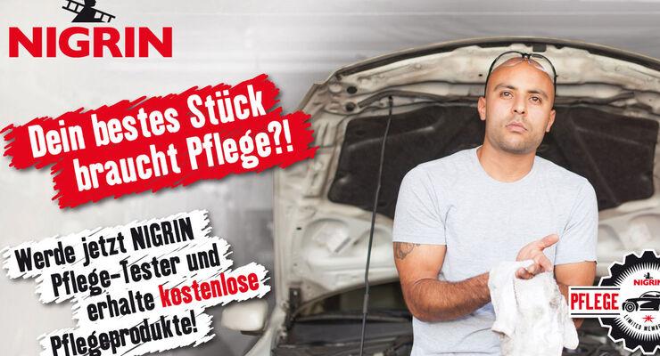 Nigrin startet die Testphase ihrer Autopflege-Podukte. Der Herstller sucht 100 Tester, die die Pflge-Produkte testen.