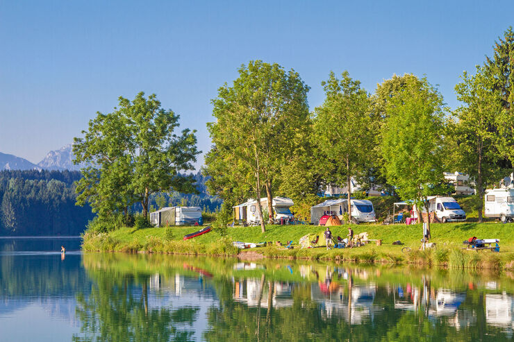 Reise-Journal: Via Claudia Camping, Campingplatz