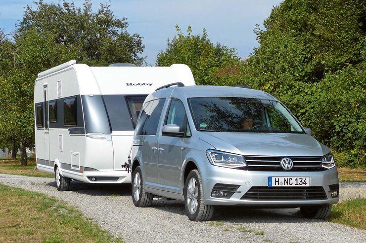 VW-Caddy mit Caravan