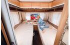 große Bettfläche mit hoher Matratzenqualität beim Eriba Exciting