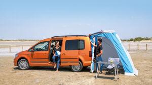 optionale Zeltplane für die Heckklappe beim VW Caddy