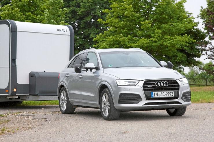 Audi Q3 mit Caravan