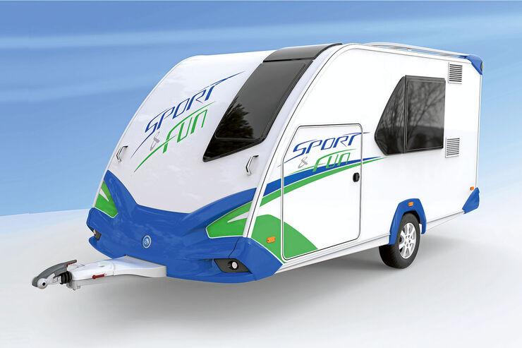 premiere des knaus sport and fun der transport wohnwagen caravaning. Black Bedroom Furniture Sets. Home Design Ideas