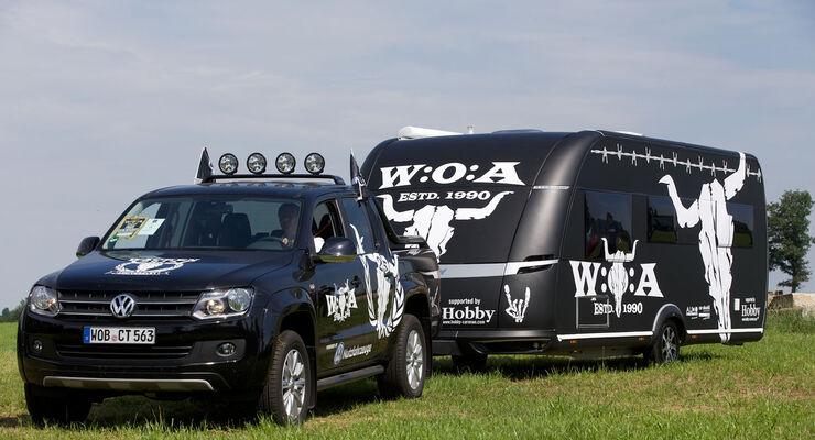 Beim 25. Jubiläum des Heavy-Metal-Festivals Wacken Open Air feiert erstmals ein Hobby Premium im Wacken-Design seinen Auftritt. Nun ist er nur noch von Fachleuten an seinen typischen Formen erkennbar.
