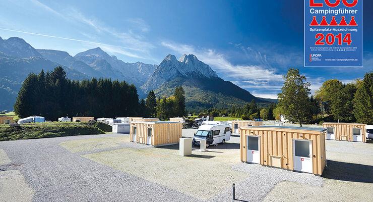 """Bereits vor der offiziellen Eröffnung darf sich das Camping Resort Zugspitze über die Vergabe von """"fünf Zelten"""" freuen."""