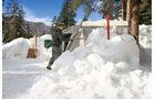 Das Caravan-Dach regelmaessig von Schnee befreien.