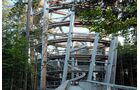 Der Aussichtsturm am Baumwipfelpfad garantiert den eindrucksvollen Fernblick.