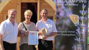 Ecocamping-Initiative von UN ausgezeichnet auf Caravan Salon 2015