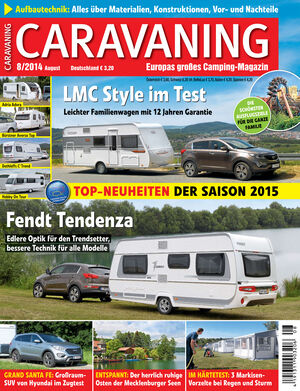 Heft Caravaning Ausgabe 08-2014