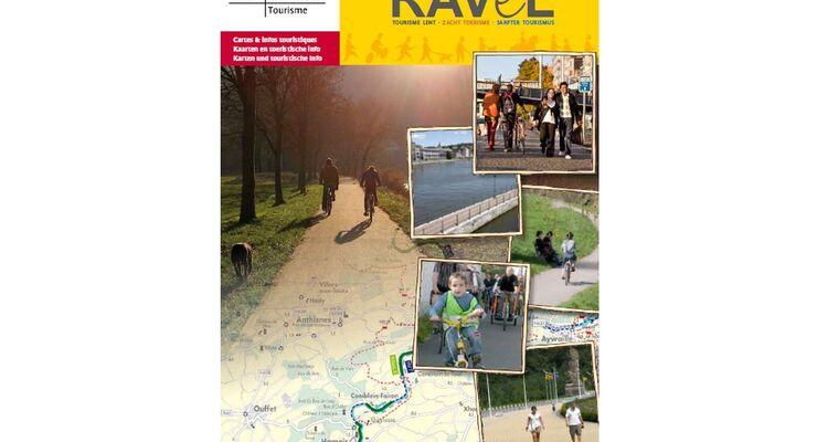 """In der Broschüre """"Ravel-Wege"""" sind Routen für Radler, Reiter und Wanderer in der ostbelgischen Provinz Lüttich beschrieben."""