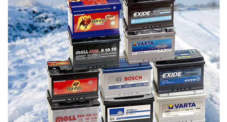 Niedrige Temperaturen sind eine Herausforderung für Starterbatterien. Die GTÜ hat gemeinsam mit der Auto Zeitung zehn Akkus getestet.