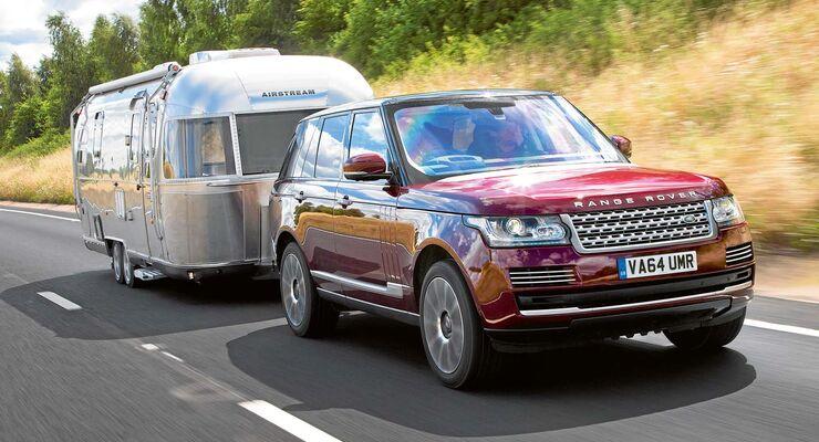 Range Rover mit Airstream-Caravan