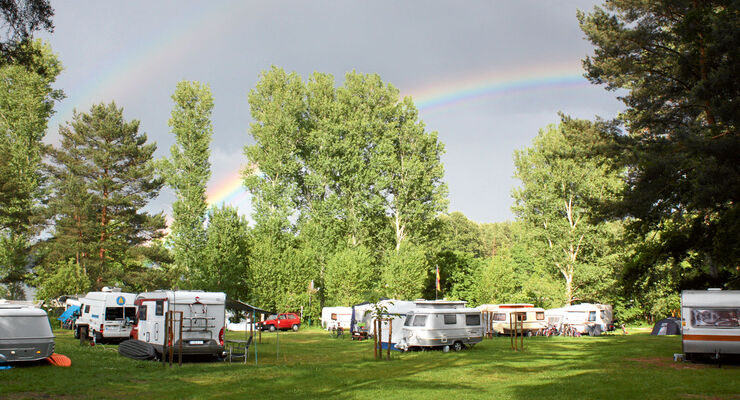 Reise: Mecklenburgische Seen, Camping am Dreetzsee