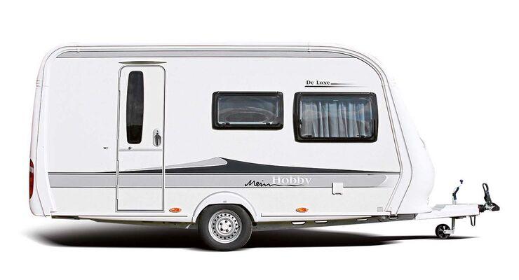Seitenansicht Caravan Hobby De Luxe