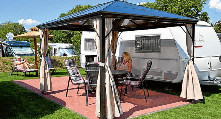 wowatel das wohnwagen hotel in xanten caravaning. Black Bedroom Furniture Sets. Home Design Ideas